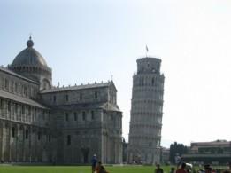 A famosa Torre de Pisa