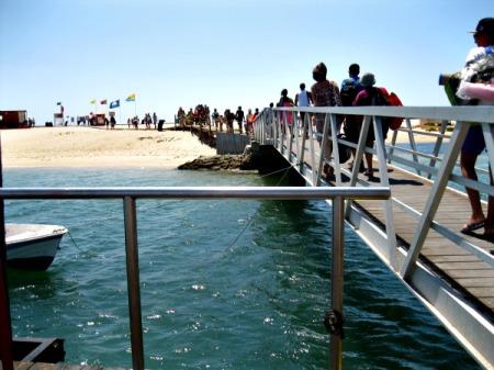 A desembarcar na ilha